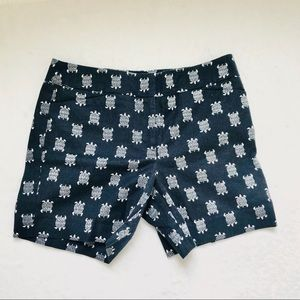 Loft turtle embroidered shorts